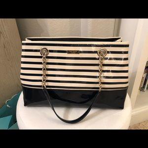 Kate Spade Montrose Navy Stripe large bag